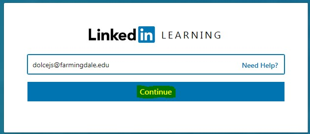 Enter email Linkedin Learning Sign In Page