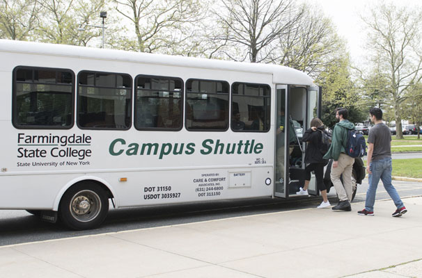 People boarding the FSC shuttle
