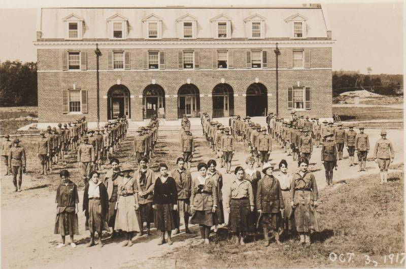 October 3, 1917 students women upfront