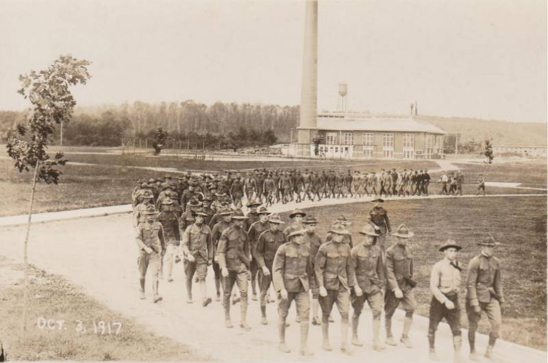 October 3, 1917 marching