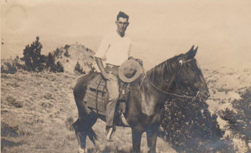 Southard in Montana on a horse