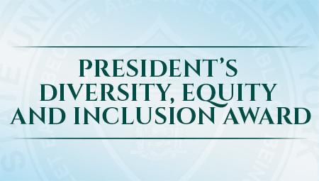 text rendering for president's diversity award