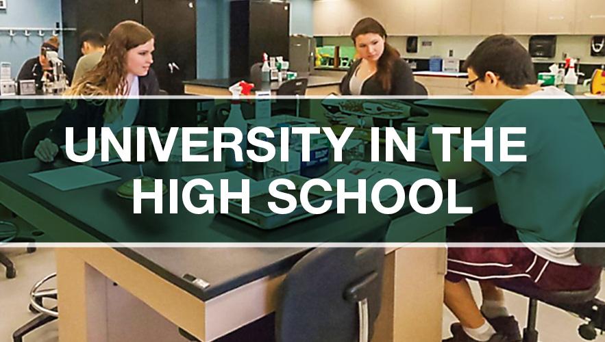university in high school logo
