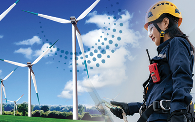 Wind turbine and safety worker